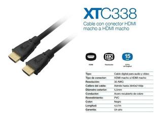 Cable Hdmi Xtech Macho A Macho 4,5mts