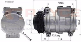 Compressor Denso 10pa17 Mercedes Bens Sprinter 312 - Novo