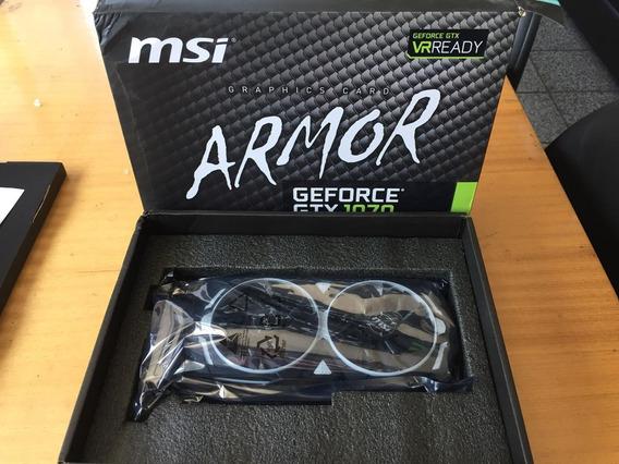 Placa De Vídeo Msi Geforce Gtx 1070 Armor 8g Oc 8gb Gddr5 25