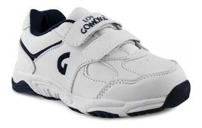 Zapato Los Gomosos Gomyschool V Bco Azul Para Niños