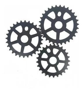 Plato Engranaje Bmx 24t De Acero Negro - Racer Bikes