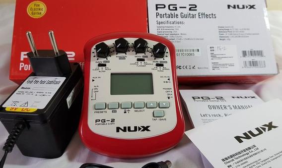 Pedal De Efeitos Processador Nux Pg2 Guitarra + Fonte 9v