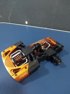 Pedal Crank Brothers Mallet 2 Preto/laranja