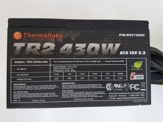 Fonte Thermaltake Tr2-430 430w