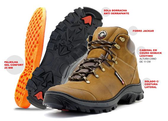 Bota Coturno Adventure Trilha Atron Shoes Crazyhor Confort