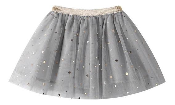 Falda Tutu Con Estrellas 3 Colores Para Niña