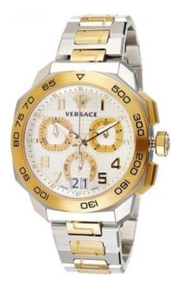 Reloj Versace Dylos Chorno De Dos Tonos Hecho En Suiza