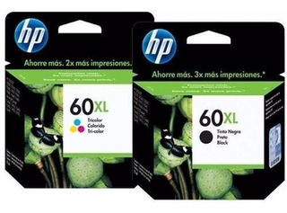 Combo Cartuchos Hp 60xl Negro + 60xl Tricolor - Originales