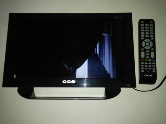 Tv Cce 14 Polegadas, Led. Funcionando. Tela Quedrada.