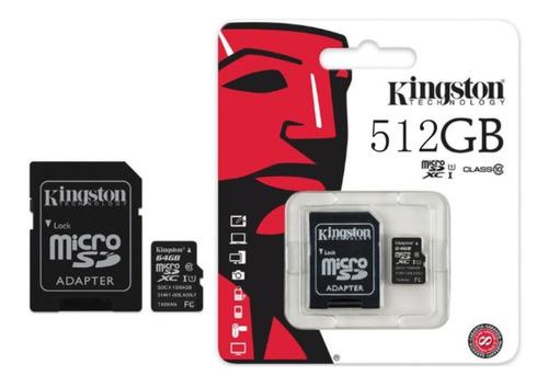 Imagem 1 de 3 de Micro Sd 512gb Kingston Sdxc Canvas Select