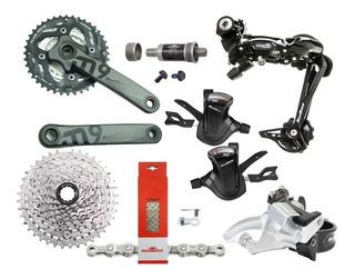 Kit Transmissão Sunrace 9v 27v Grupo Completo Bike (7 Peças)