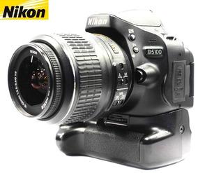 Câmera Nikon D5100 16mp + 18-55mm Vr+ Grip - Só 8.728 Clicks
