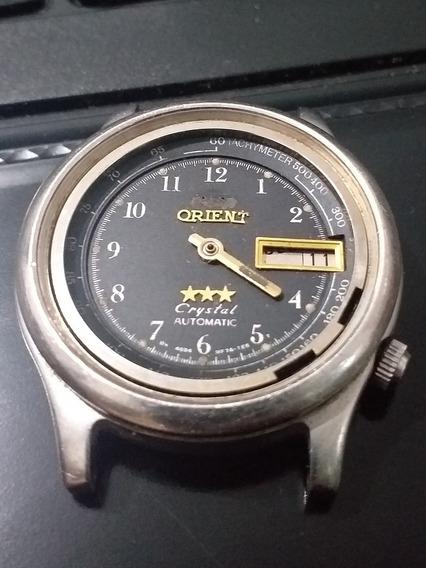 Relógio Orient 3 Estrelas Crystal Automático Calendário Pret