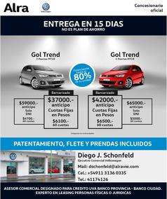 Volkswagen Gol Trend 0km 5 Ptas 1.6 Trendline My18 Financio