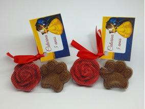 5 Kits Bela E A Fera Sabonete Mini Rosa + Sabonete Patinha