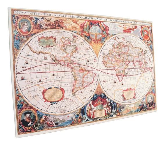 Cuadros Impresos Mapas Planisferio Mapamundi 120x80cm