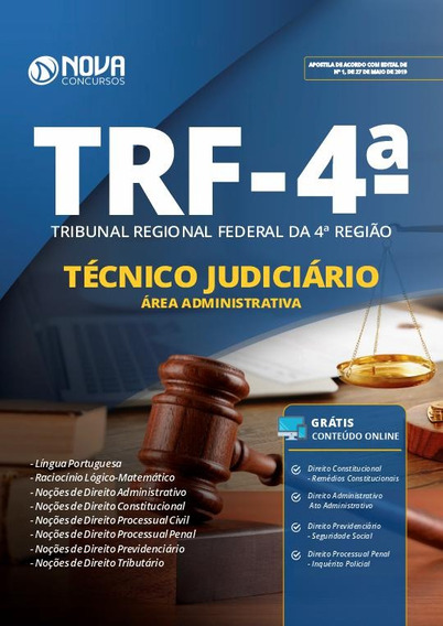 Apostila Trf4 2019 Técnico Judiciário Área Administrativa