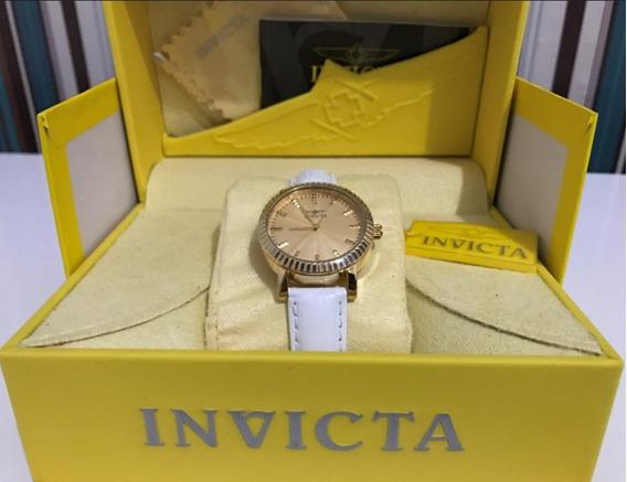 Relógio Feminino Invicta 22483 Puls Couro Branco Até 12x