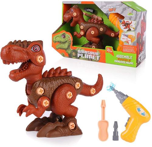 Imagen 1 de 6 de Juguete Dinosaurio Para Niños Diy Con Taladro Electrico