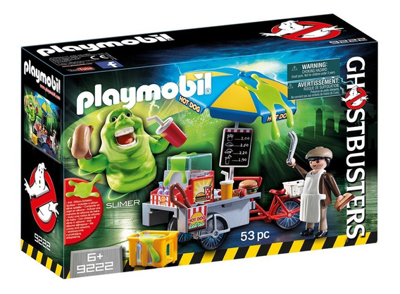 Playmobil Caça-fantasmas 9222 - Geleia Carrinho Com Hot Dog