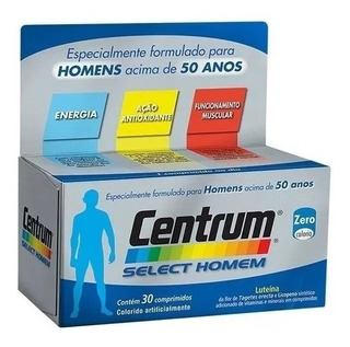Kit 2 Caixas Centrum Select Homem 30 Comprimidos Original