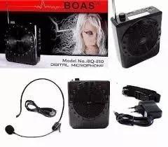Microfone Original Megaf. Amplificador Voz Boas Bq-810 9