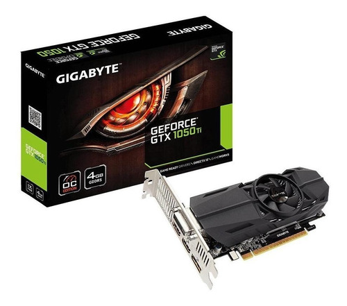 Placa de video Nvidia Gigabyte  GeForce GTX 10 Series GTX 1050 Ti GV-N105TOC-4GL OC Edition 4GB