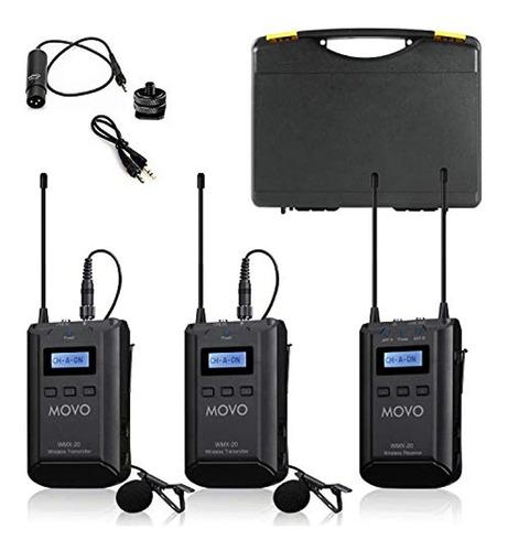 Imagen 1 de 7 de Movo Wmx-20-duo - Sistema De Micrófono Inalámbrico Uhf De 48