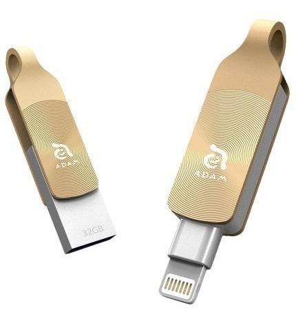 Pen Drive Elements Adam Iklips Duo 64gb Dourado