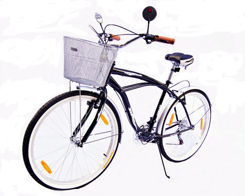 Bicicleta Hombre Verado Playera Canasto Luz Cambios Shimano