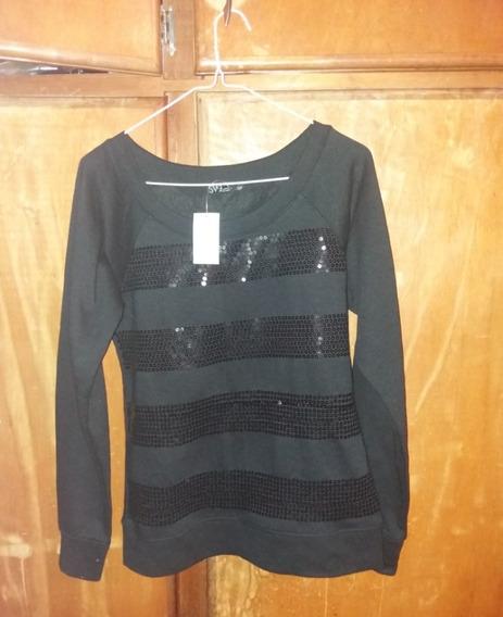 Sweater De Dama Negro Con Lentejuelas