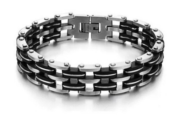 Pulseira Bracelete Masculino Aço Inoxidável 316l Com Elos