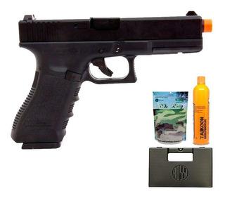 Pistola De Airsoft Glock R17 Gbb 6mm + Munição + Cilindro +