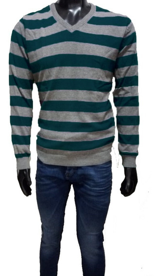 Sweater Escote V Rayas Hombre | Panther (15004)