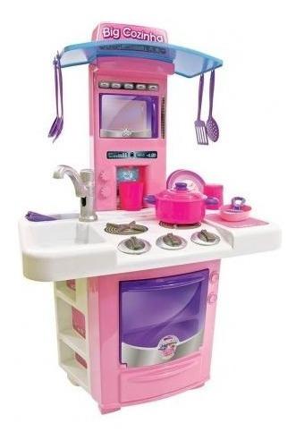 Nova Cozinha Infantil Big Star Fogão C/ Acessórios - 3 Anos