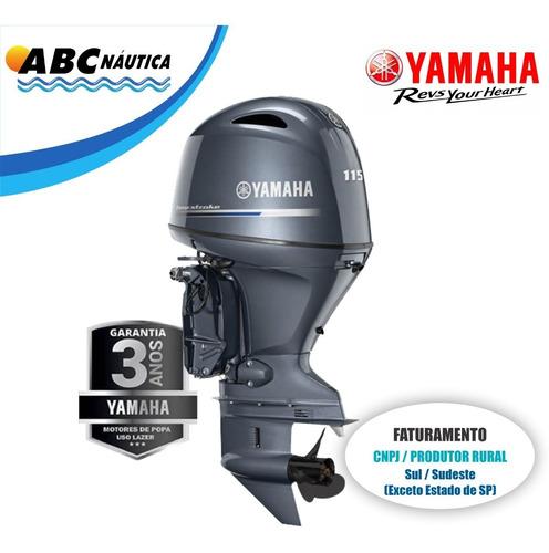 Motor De Popa Yamaha 115hp 4t  Leia Anúncio