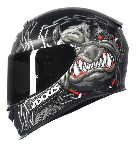 Capacete Axxis Eagle Bull Cyber Matt Black/grey