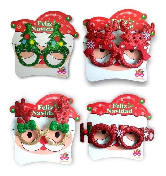 Lentes Navideños Posada Fiesta Navidad Decoración 12 Pieza B