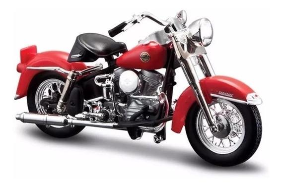 Miniatura Harley Davidson Flh Duo Glide 1958 Maisto 1/18