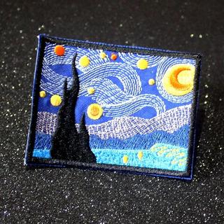 Parche La Noche Estrellada Vincent Van Gogh Para Ropa