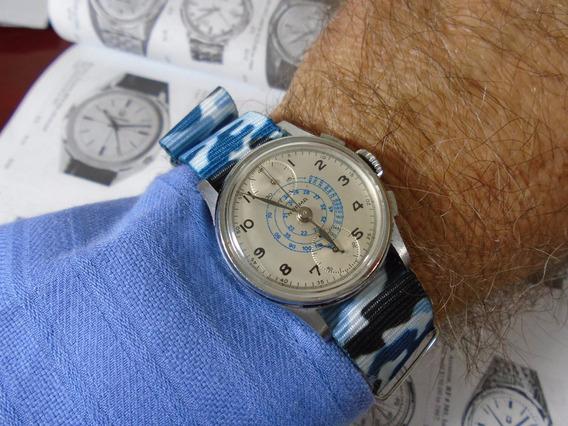 Relógio Norma Cronógrafo Militar Venus 170 Antigo Coleção
