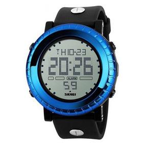 Relógio Masculino Skmei Digital 1172 - Preto E Azul