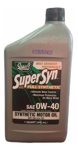 Aceite 0w40 Full Sintético Supers Importado