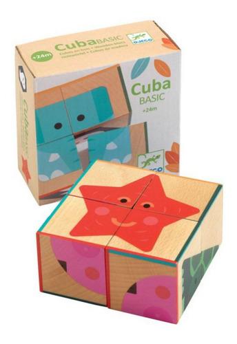 Puzzle Cubos Madera Cubabasic Djeco Dj06208 Animales