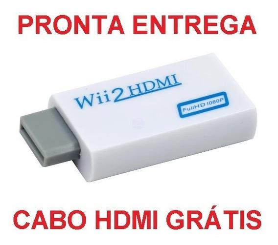 Wii2hdmi Adaptador Conversor Wii Hdmi 1080p Cabo Hdmi Grátis