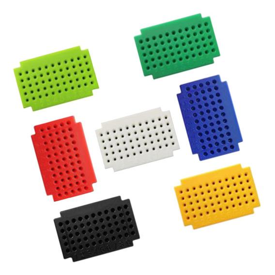 7 Pieces Zy-55 Mini Solderless Breadboard Pcb Conselho Livre
