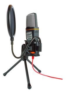 Micrófono Condensador De Estudio Con Filtro Antipop