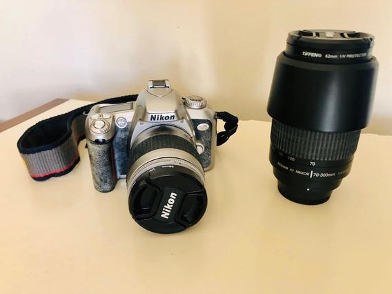 Câmera Nikon N75 + Lente Nikor Objetiva 70-300mm