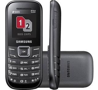 Celular Desbloqueado Samsung E1207 Preto Dual Chip Vivavoz