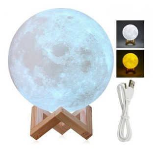 Lámpara De Luna, Promoción Importadas Original Usa 15 Cm